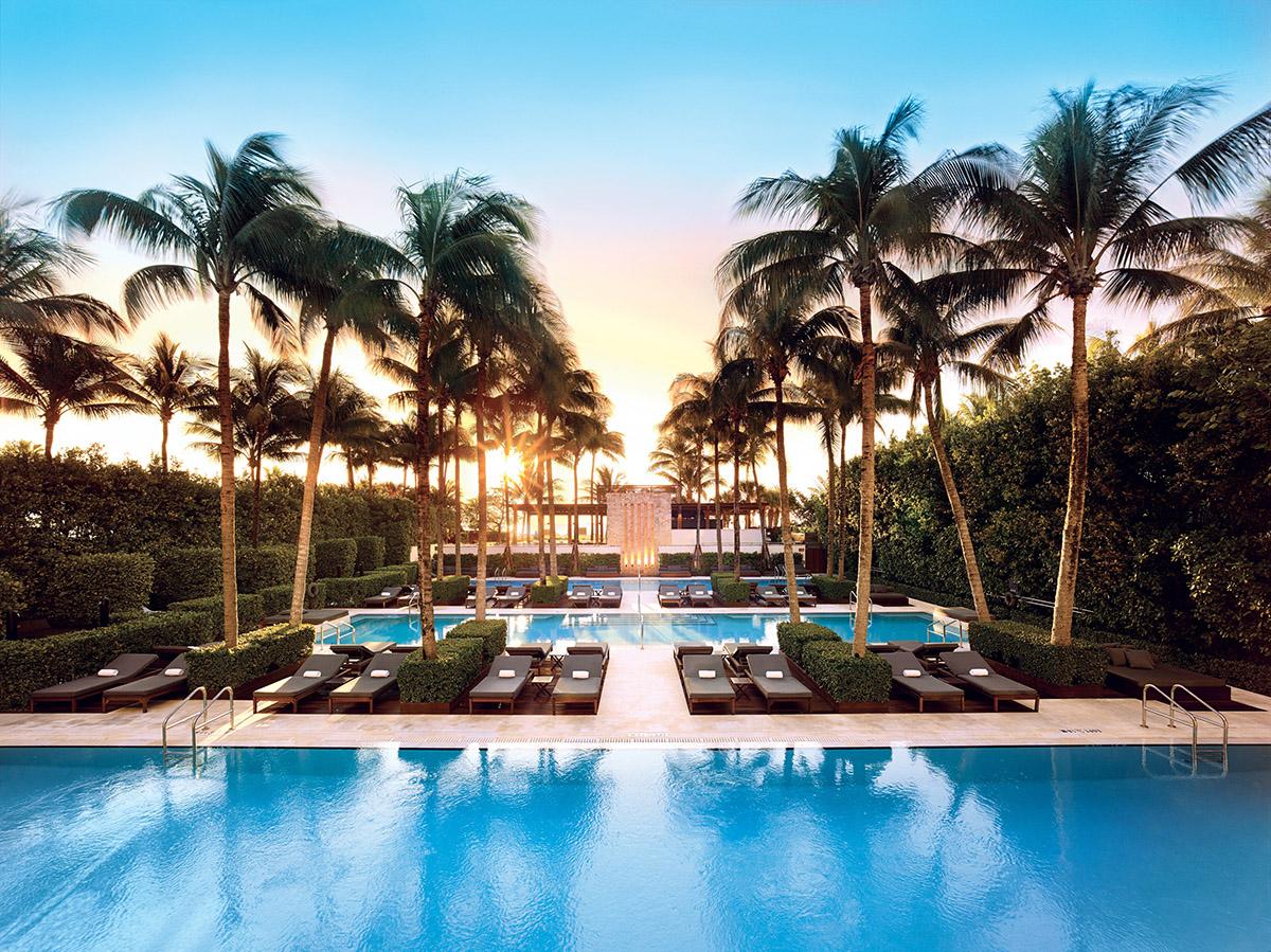 Complexo de piscinas do The Setai Miami Beach