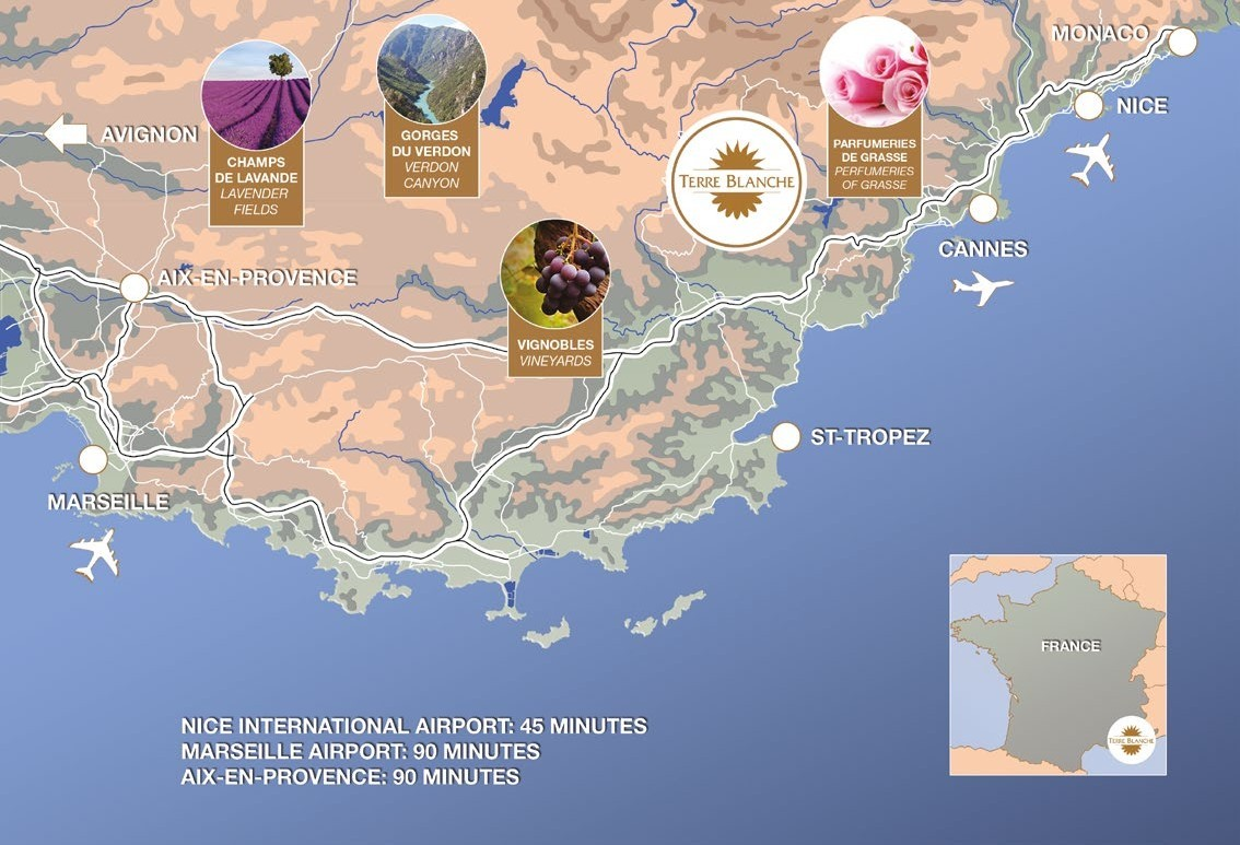 Terre blanche map